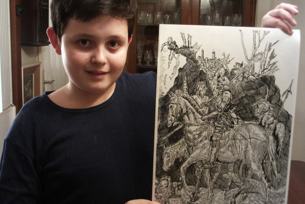 11-Year-Old Child Prodigy Creates Unbelievably Intricate Nature-Inspired Drawings Using Only Pen-And-Pencil. Wow, This Kid Is A Master Artist!